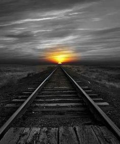 Sunrise over train tracks - every town, large or small, had railroad tracks and the train came to town several times a week or every day. The trains hauled people as well as the products from the farm. Pretty Pictures, Cool Photos, Amazing Pictures, Trains, Beautiful Sunrise, Train Tracks, Train Rides, Belle Photo, Beautiful World