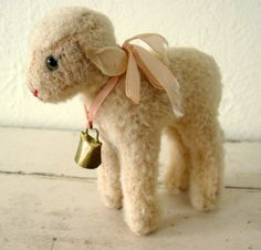 Vintage Steiff Mohair Lamb by Somethingcharming on Etsy, $65.00