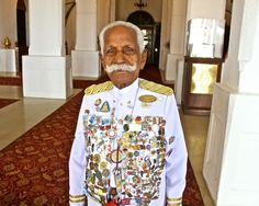 I want to meet this man.  His name is K. Chattu Kuttan and he is in his 90s still working as a doorman at the Galle Face Hotel in Colombo Sri Lanka.    I will compliment his mustache.  And bring him a pin.
