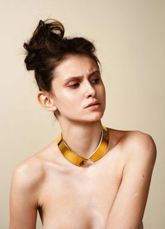 Choker :: Porcelain painted with Gold  AU[79] series | uncommon matters