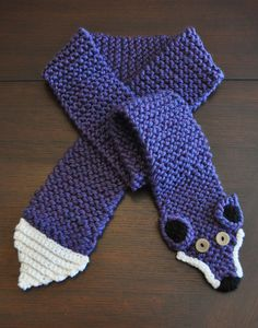 Knit & Crochet Fox Scarf. $30.00, via Etsy.