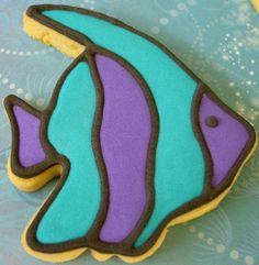 Stripy Fish Cookie