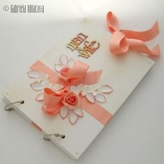 "Original Hand-Made Quest Book: ""Salmon Pink & Tangerine"""