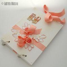 "Original Hand-Made Quest Book: ""Salmon Pink & Tangerine"""