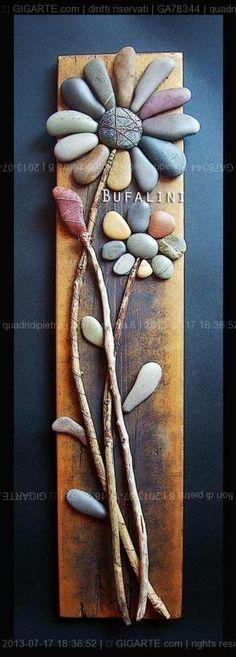 Pebble art by Michela Bufalini