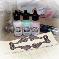 A Calendar Album & Colour Wash Technique by ~ Mistra Hoolahan Card Making Techniques, Art Techniques, Ink Wash, Scrapbook Journal, Color Effect, All Craft, Alcohol Inks, Card Tutorials, Mix Media
