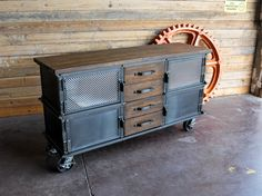 Large Ellis Console | Vintage Industrial Furniture