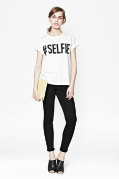 #selfie t shirt - love this #fashion statement via @Vera Kulikova Sweeney (Ladyandtheblog.com)