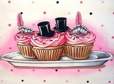 Top hats and Tiaras for Girl dress up Birthday party