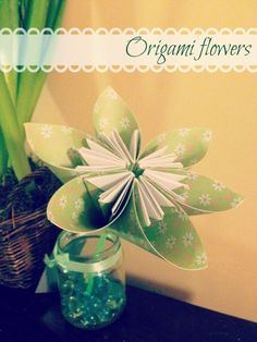 How to make origami flowers