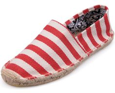 White Red Toms New Arrivals Womens stripe shoes