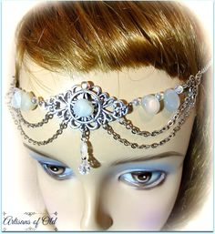 Moonstone and Crystal Ritual Circlet