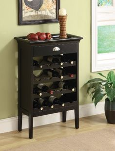 Acme 97012 Richard Brown Faux Marble Top Wine Rack Wenge Finish >>> You can get additional details at the image link.