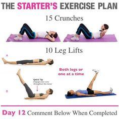 The Starter's Exercise Plan !