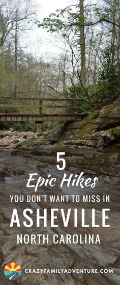 5 Epic Hikes You Don't Want to Miss in Asheville, North Carolina- One of our favorite things to do in Asheville, NorthCarolina is hiking. North Carolina is home to beautiful parks and a national forest, making hiking that much more appealing! Asheville North Carolina, Camping In North Carolina, North Carolina Mountains, North Carolina Vacations, North Carolina Homes, Black Mountain North Carolina, South Carolina, Maggie Valley North Carolina, Waynesville North Carolina