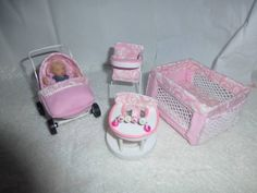 DOLLS HOUSE MINIATURE OOaK 1/12 Toddler & Her Nursery Play Set