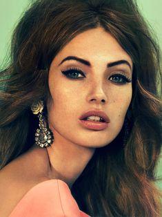 dramatic makeup & hair...