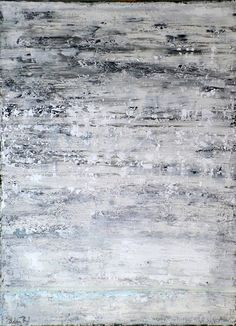 'Blanco' by Artem Bryl. Acrylics and mixed media on canvas, 122 X 91.5 cm. #blanco #white #acrylics #shades #grey #whitepainting #artembryl #artembrylart