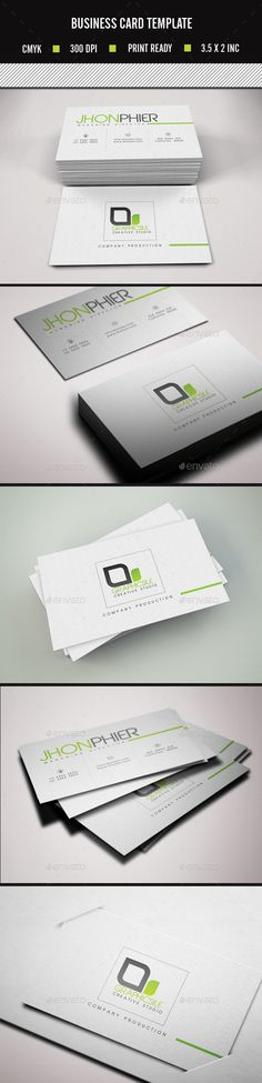 Simple Clean Business Card Template #design #print Download: http://graphicriver.net/item/simple-clean-business-card/11263414?ref=ksioks