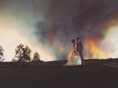 Josh Newton, the couple's photographer , was snapping photos of the whole thing and ended up grabbing some absolutely incredible shots.