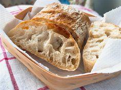 Light and Airy Homemade Ciabatta Bread - Italian Recipe Book Italian Recipe Book, Italian Recipes, Homemade Ciabatta Bread, Bread Recipe Video, Biga Bread Recipe, Italian Bread, Thing 1, Bread Recipes, Baking Recipes