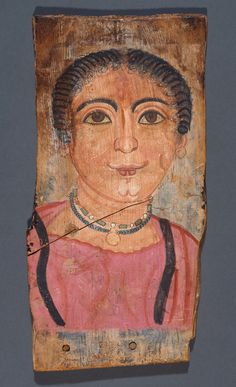 Mummy Portrait of a Woman; Unknown; Egypt; 175 - 200; Tempera on wood; 28.2 × 14.5 cm (11 1/8 × 5 11/16 in.); 79.AP.129