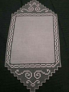 Crochet Boarders, Crochet Lace Edging, Thread Crochet, Filet Crochet, Crochet Doilies, Knit Crochet, Crochet Patterns, Crochet Magazine, Crochet Tablecloth