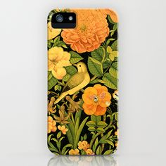 Floral Bird iPhone Case