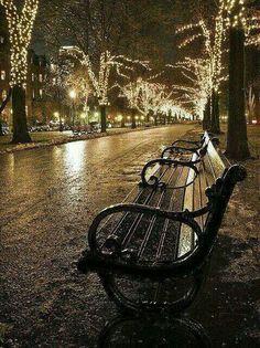 Winter night in Boston