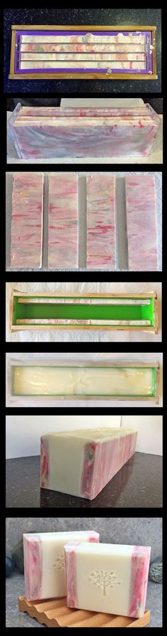 "This is a simple picture tutorial of how I make one of my favorite soap designs. The sides of the bars are created first using an ""In the P..."