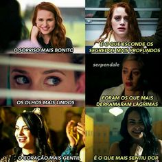 E essas são as princesas da disney....... N pera de riverdale! Cami Mendes, Riverdale Memes, Best Series, Series Movies, Pretty Little Liars, Sad, Humor, Disney, Cheryl Blossom