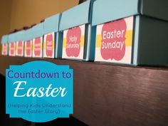 Bring the Easter story to life with your kids as you count down, starting on Palm Sunday and continuing through Easter.