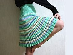 Anjella's Bulgarian Skirt! English translation of a gorgeous fingering-weight pattern. Would be lovely in an earth tone, with a concentric contrast stripe at the top, much like a pair of socks? (FREE pattern on Ravelry!)