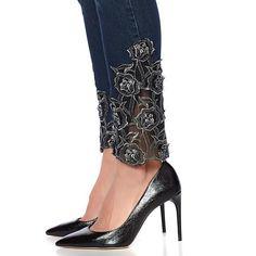 34fe8257115a DG2 by Diane Gilman Classic Stretch Embellished Skinny Jean - 8485336