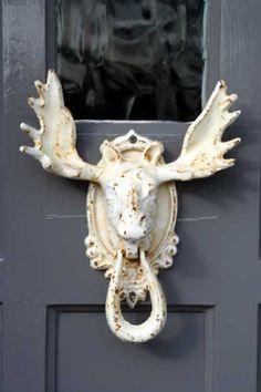 elk knockknock, animals, door knob, door knockers, doorknob, moose, front doors, knock knock, elk door knocker