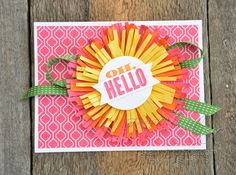 Stampin' Dolce: flower using Stampin' Up! fringe scissors