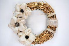 Gold Wreath Adorn-A-Wreath modern style rustic by AdornAWreath