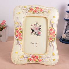 """Find More Frame Information about Cheap 6"""" Photo Frame Europe Modern Style Resin Charm Wedding Decoration Office Desktop Romantic Picture Frames for Home Decor,High Quality picture frame bathroom,China picture swim Suppliers, Cheap frame pictures band from Handicraftsman on Aliexpress.com"""