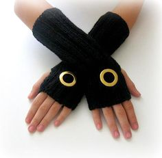 Fingerless Gloves - Black on Etsy, $42.00