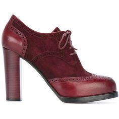 Santoni brogue style ankle boots (1.530 BRL) ❤ liked on Polyvore featuring shoes, boots, ankle booties, red, red ankle boots, brogue boots, leather bootie, short boots and leather ankle booties