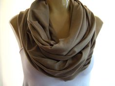 """""""Timeless Taupe"""" Infinity Scarf. I WANT. """"Soft Lilac"""" is gorgeous too."""