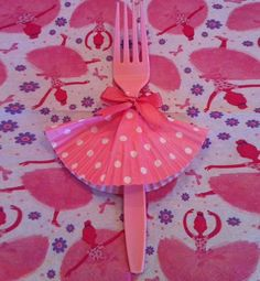 Cute Ballet Dancer Fork | Click Pic for 35 DIY Baby Shower Ideas for Girls| DIY Baby Shower Decor Ideas for Girls