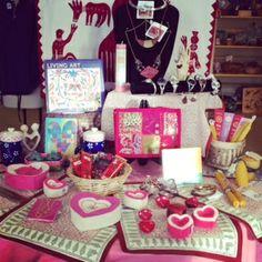 Fair Trade Valentine's Day display!