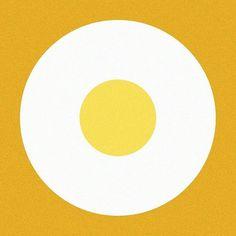Egg on toast #egg #toast #graphic #graphicdesign #design #illust #illustration #minimal #thedesigntip #meanimize #artwork #album
