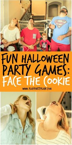 10 funny Halloween party games, perfect for teenage children or even adults. - 10 funny Halloween party games perfect for teenage or even adult children. - 10 funny Halloween party games perfect for teenage or even adult children. Teen Halloween Party, Outdoor Halloween Parties, Halloween Games Adults, Halloween Activities For Kids, Cheap Halloween, Happy Halloween, Trendy Halloween, Halloween Birthday, Family Halloween