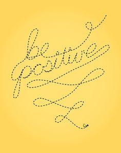 be positive #happy #emmamildon