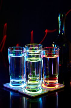 Add colour to any party with Philips light coasters. #LED