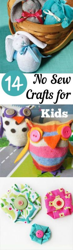 PIN 14 No Sew Crafts for Kids