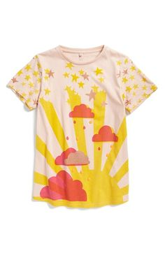 Stella+McCartney+Kids+'Arlo'+Cloud+Print+Tee+(Little+Girls+&+Big+Girls)+available+at+#Nordstrom