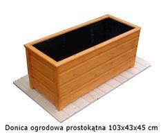 Donica ogrodowa prostokątna 103x43x45 cm